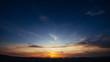 Beautiful summer mountain landscape. Blue color sunset.