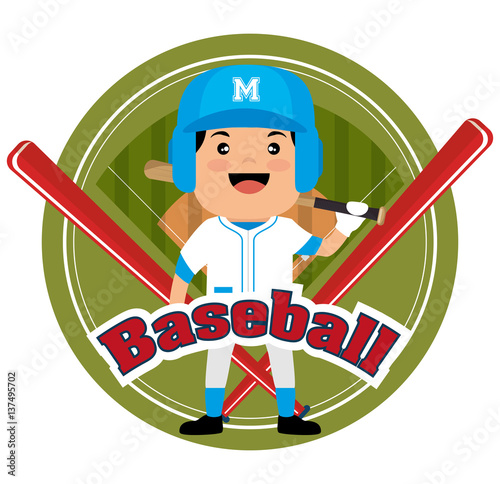 Photo  baseball player sport icon vector illustration design