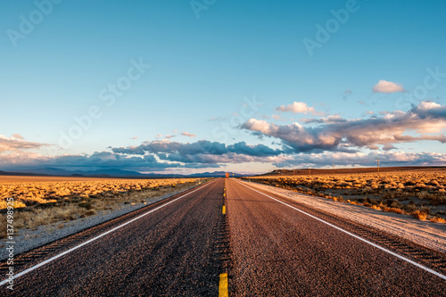 Canvas Print Open highway in California