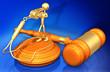 canvas print picture - Whistle Blower Law Legal Gavel Concept 3D Illustration