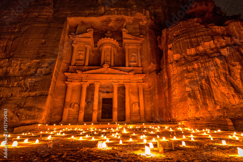 Fotografie, Tablou  Petra by night
