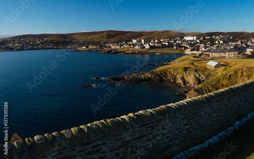 Garden Poster Napels The shore of Lerwick, capital of Shetland Islands