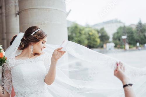 Fotografie, Obraz  portrait of a beautiful girl in wedding day