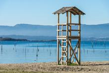 Wooden Beach Rescue Tower