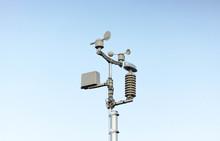 Weather Station On Blue Sky Background