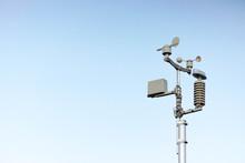 Weather Station On Blue Sky Ba...