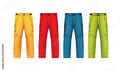 Fototapeta Vector illustration of winter trousers.