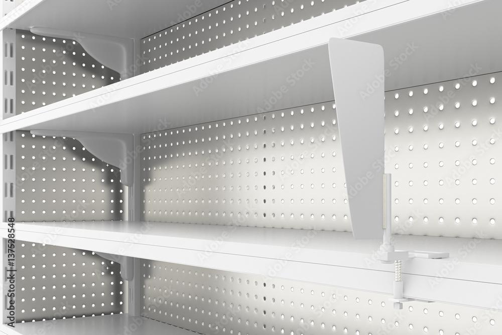 Awe Inspiring Photo Art Print Empty Supermarket Shelves Isolated On Home Remodeling Inspirations Genioncuboardxyz