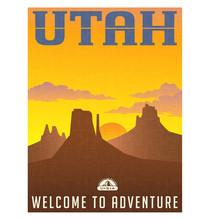Utah Travel Poster Or Sticker....