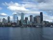 Seattle Skyline reflections in Elliot Bay