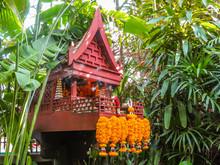 House Altar In A Tropical Gard...