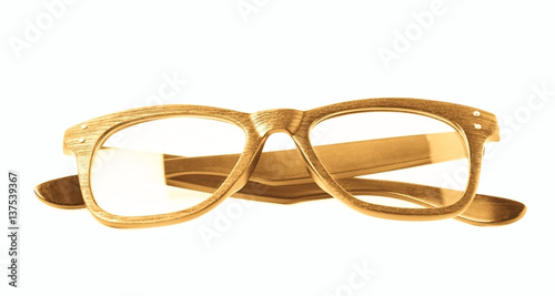 Pinturas sobre lienzo  Pair of optical glasses isolated