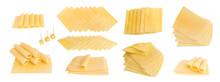 Sliced Gouda Cheese Isolated O...