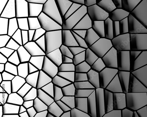 Broken 3d pattern