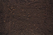 Leinwanddruck Bild - Fertile soil texture background seen from above, top view. Gardening or planting concept with copy space. Natural pattern