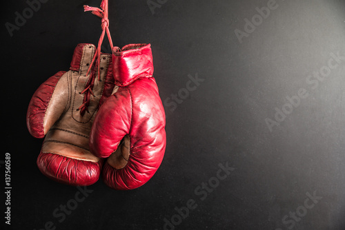 Fotografija  guantoni da boxe vintage