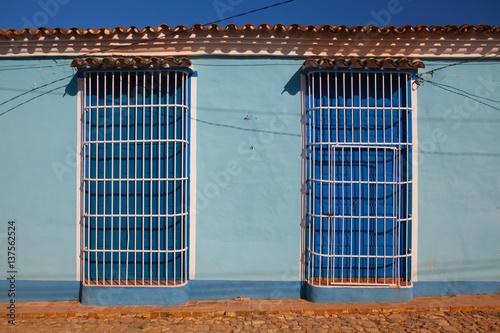Typical colonial building in Trinidad, Cuba Canvas Print
