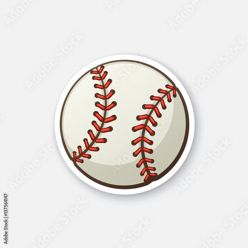 Photo  Sticker baseball ball