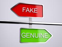 Fake VS Genuine Signs
