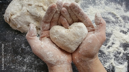 Printed kitchen splashbacks Bread Backen mit Liebe