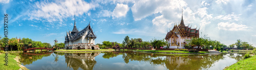 Photo Stands Bangkok Sanphet Prasat Palace, Ancient City, Bangkok, Thailand