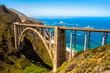 canvas print picture - Bixby Bridge in Big Sur, California USA