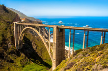 Bixby Bridge In Big Sur, Calif...