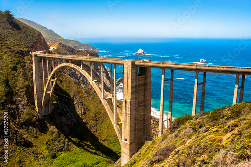 Bixby Bridge in Big Sur, California USA - 137575701