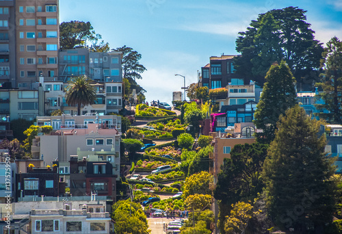 Famous Lombard Street in San Francisco, California Canvas Print