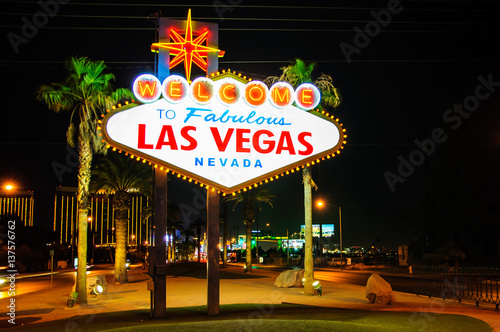 Keuken foto achterwand Las Vegas Welcome to Fabulous Las Vegas sign, Nevada, USA