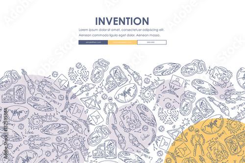 Fotografía  invention Doodle Website Template Design