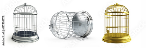 Photo  open birdcage
