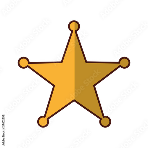 Valokuvatapetti sherif star medal icon vector illustration design