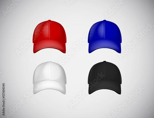 Baseball Cap Template Collection Uniform Fashion Blank Hat Design Sport Clothing Set