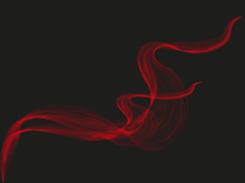Abstract Vector Black Background With Red Smoke