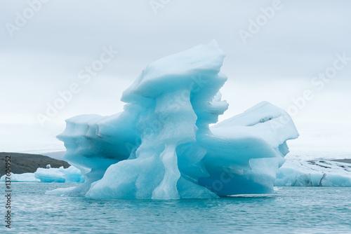 Poster Glaciers Iceberg in the glacial lagoon Jokulsarlon, Iceland