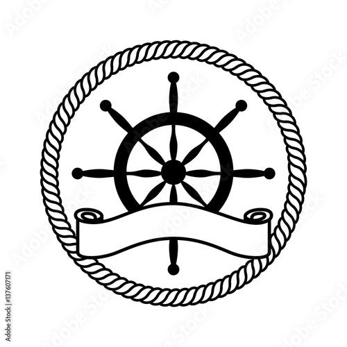 timon boat isolated icon vector illustration design Canvas Print
