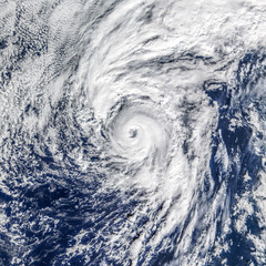 Fototapeta View of Global storm from space. Elements of this image furnished by NASA