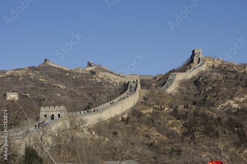 Stickers pour porte Muraille de Chine 万里の長城