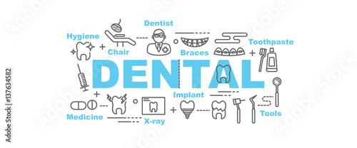 Fototapety, obrazy: dental vector banner