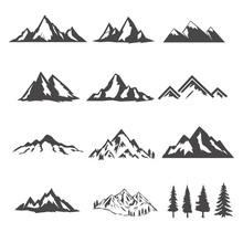 Set Of The Mountains Illustrat...