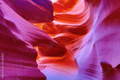 Montage in der Fensternische Kastanienbraun Antelope canyon