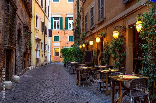 View of old cozy street in Rome, Italy © Ekaterina Belova