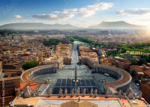 Foto op Aluminium Rome Aerial view on Vatican