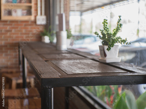 Photo  Table in a cafe.