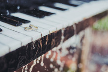 Wedding Rings On Piano Keys