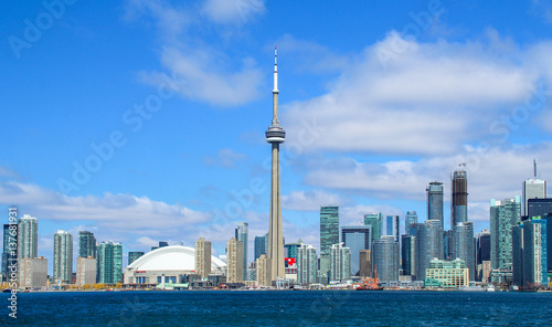 Deurstickers Toronto Downtown Toronto skyline