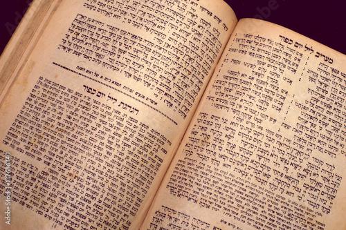 Obraz na plátně nice old jewish book