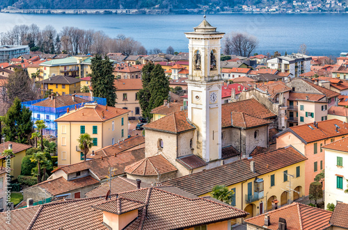 Valokuva  View of Maccagno from above, Luino, Italy