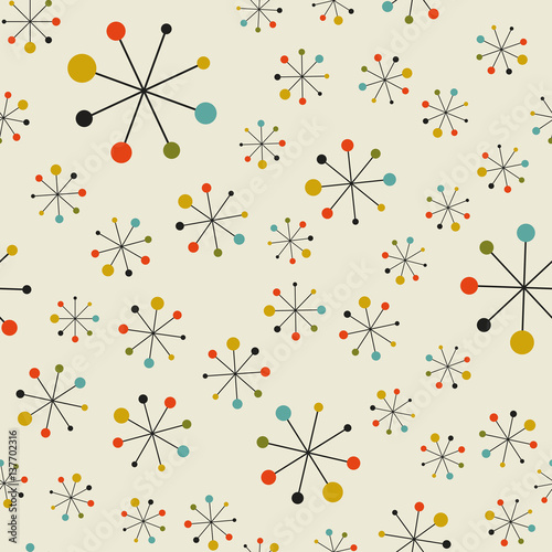 Abstract mid century space pattern Canvas Print